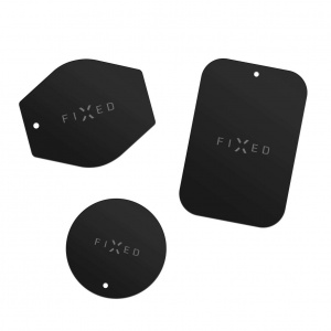 Sada magnetických plíšků FIXED ICON Plates, černá