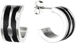 Kruhové ocelové náušnice s betonem Split GJEWSSA104UN