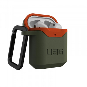 UAG Hard case, olive/orange - AirPods