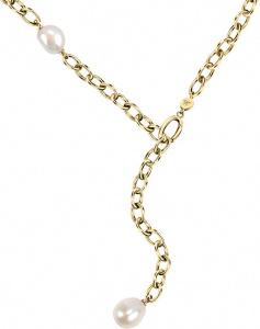 Pozlacený ocelový náhrdelník s pravými perlami Oriente SARI01
