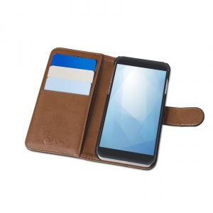 Pouzdro typu kniha CELLY Wally pro Huawei Honor 10, PU kůže, černé