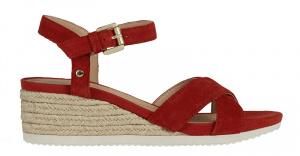 Dámské sandále D Ischia Corda Red D02HHC-00022-C7000