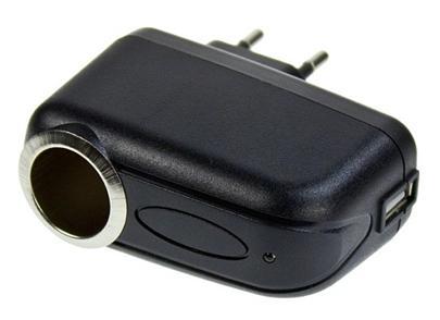 adapter CL-AC 230V/12V + USB výstup pro nabíjení (k připojení CL adapteru do sítě, 1A i pro NAVIGACI)