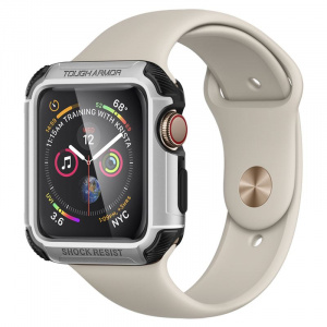 Spigen Tough Armor, silver - Apple Watch 4 44mm