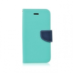 Pouzdro FANCY Diary Huawei P8 Lite (2017), P9 Lite (2017), Honor 8 Lite barva světle modrá/modrá
