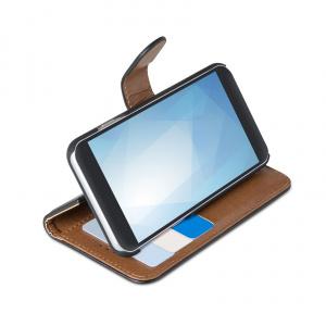 Pouzdro typu kniha CELLY Wally pro Apple iPhone 11 Pro Max, PU kůže, černé