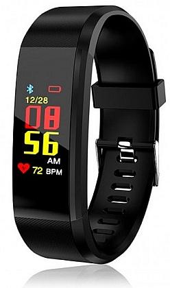 Fitness náramek Aligátor EB04 Black - Bluetooth Smart hodinky, aplikace v češtině, IP67