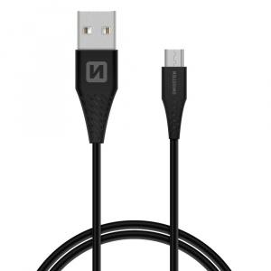 DATOVÝ KABEL SWISSTEN USB / MICRO USB 1,5 M ČERNÝ (9mm)