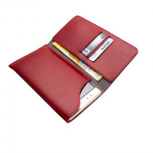 Kožené pouzdro FIXED Pocket Book pro Apple iPhone 6/6S/7/8, červené