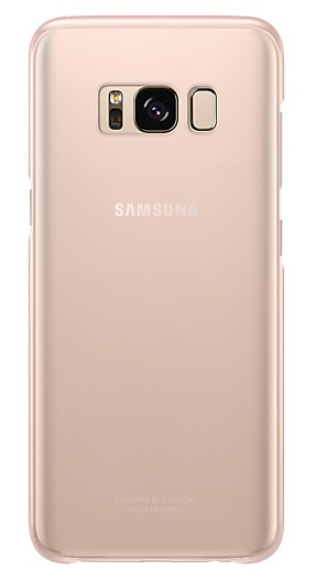 Samsung zadní kryt Clear Cover EF-QG955CPE pro Galaxy S8+ Pink