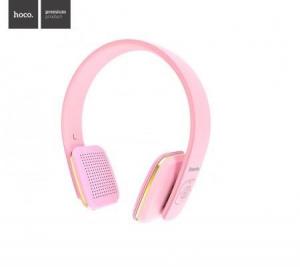 Bluetooth headset HOCO W9 barva růžová