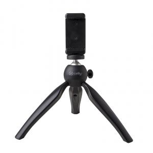 Kompaktní tripod na mobilní telefon CELLY Mini Table Tripod, černý