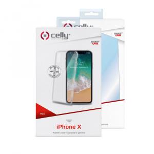 TPU pouzdro CELLY Ultrathin pro Apple iPhone X/XS, bílé