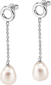 Ocelové náušnice s pravou perlou Oriente SARI12