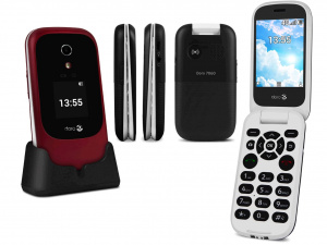 Doro 7060 SingleSIM gsm tel. Black/White