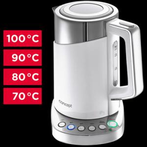 RK3170 Rychlovarná konvice s termoregulací Cool Touch 1,7 l WHITE
