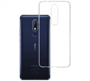 Kryt ochranný 3mk Clear Case pro Nokia 5.1 ,čirý