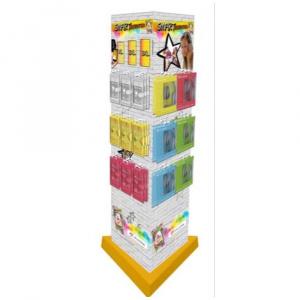 SMART GENERATION - podlahový stojan trojboký pro pouzdra a sluchátka, 24 háků