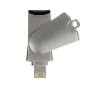 Čtečka paměťových karet Micro SD, Lightning konektor, barva stříbrná