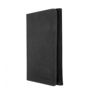 Kožené pouzdro FIXED Pocket Book pro Apple iPhone XR, šedé
