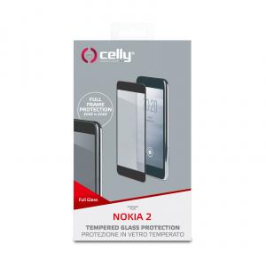 Ochranné tvrzené sklo CELLY Full Glass pro Nokia 2, černé
