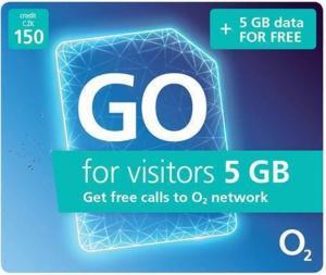 Předplacená SIM karta O2 s 5GB dat a 150 Kč kreditu