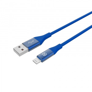 Datový USB kabel CELLY s Lightning konektorem, MFI certifikace, 1m, modrý
