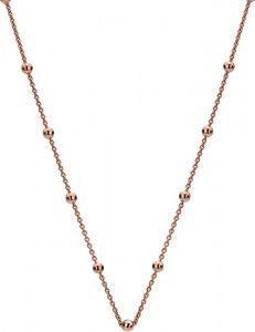 Stříbrný řetízek Emozioni Rose Gold Cable with Ball CH005