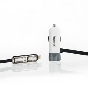 CL adaptér REMAX RCC-102 2in1 + 1xUSB 3,4A barva bílá/černá