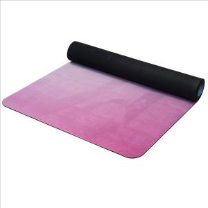 YATE Yoga Mat přírodní guma - vzor Z 4 mm - modrá/růžová