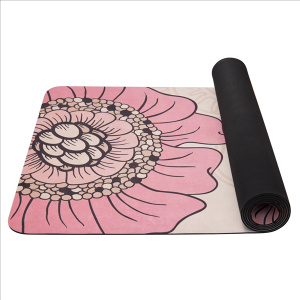 YATE Yoga Mat přírodní guma - vzor F  4 mm - béžová