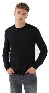 Pánský svetr Round Neck 52M00263-K299 Black