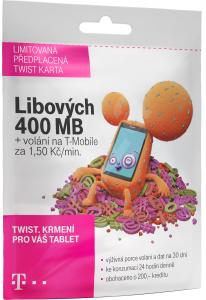 PŘEDPLACENÁ T-MOBILE TWIST SIM KARTA - 400 MB - TARIF S NÁMI