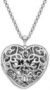 Přívěsek Hot Diamonds Large Heart Filigree Locket DP669