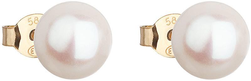 Zlaté náušnice z pravých perel Pavona 921042.1