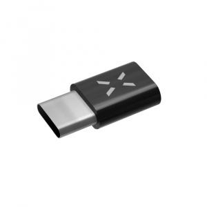 Redukce FIXED pro nabíjení a datový přenos z microUSB na USB-C 2.0, černá