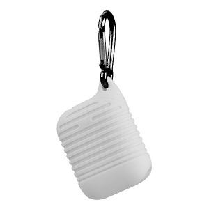 Pouzdro pro AirPods typ 2, barva bílá s karabinou
