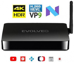 Multimediální centrum EVOLVEO ANDROID BOX M4 Black - Android 7.1, WiFi, 16GB, UltraHD 4K