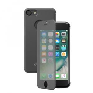Pouzdro typu kniha Cellularline TOUCH s dotykovým čelním krytem pro Apple iPhone 7/8, černé