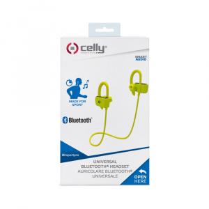 Sportovní Bluetooth sluchátka CELLY BHSPORTPRO, žlutá