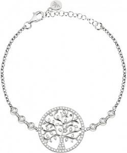 Stříbrný náramek s krystaly Strom života Albero Della Vita SATB08