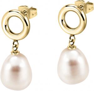 Ocelové náušnice s pravou perlou Oriente SARI04