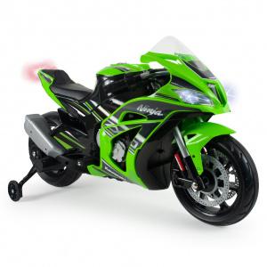 Injusa elektrická motorka Kawasaki ZX10 Ninja Green 12V