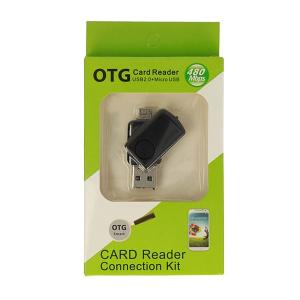 Čtečka microSD - výstup USB + micro USB barva černá