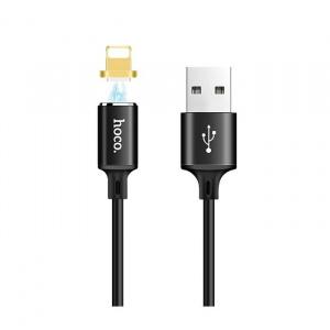 Datový kabel HOCO U28 iPhone Lightning, magnetický barva černá