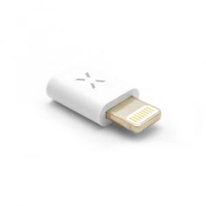 Redukce FIXED pro nabíjení a datový přenos z microUSB na Lightning, podpora iOS 12.x a nižší, bílá