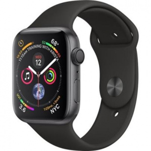 Hodinky Apple Watch Series 4 40mm Space Grey Aluminium - Black Sport pásek 2018