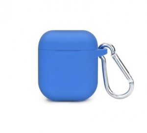 Pouzdro silikonové pro sluchátka AirPods, modrá