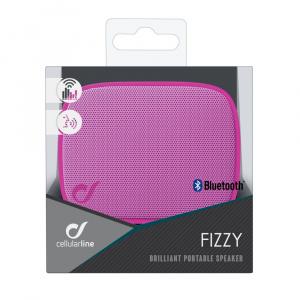 Bezdrátový reproduktor CELLULARLINE FIZZY, AQL® certifikace, růžový