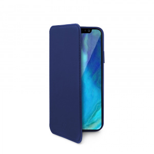 Pouzdro typu kniha CELLY Prestige pro Apple iPhone XR, PU kůže, modré